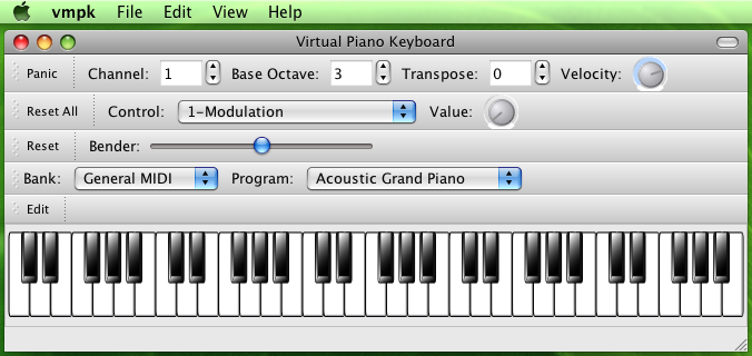 VMPK  Virtual MIDI Piano Keyboard
